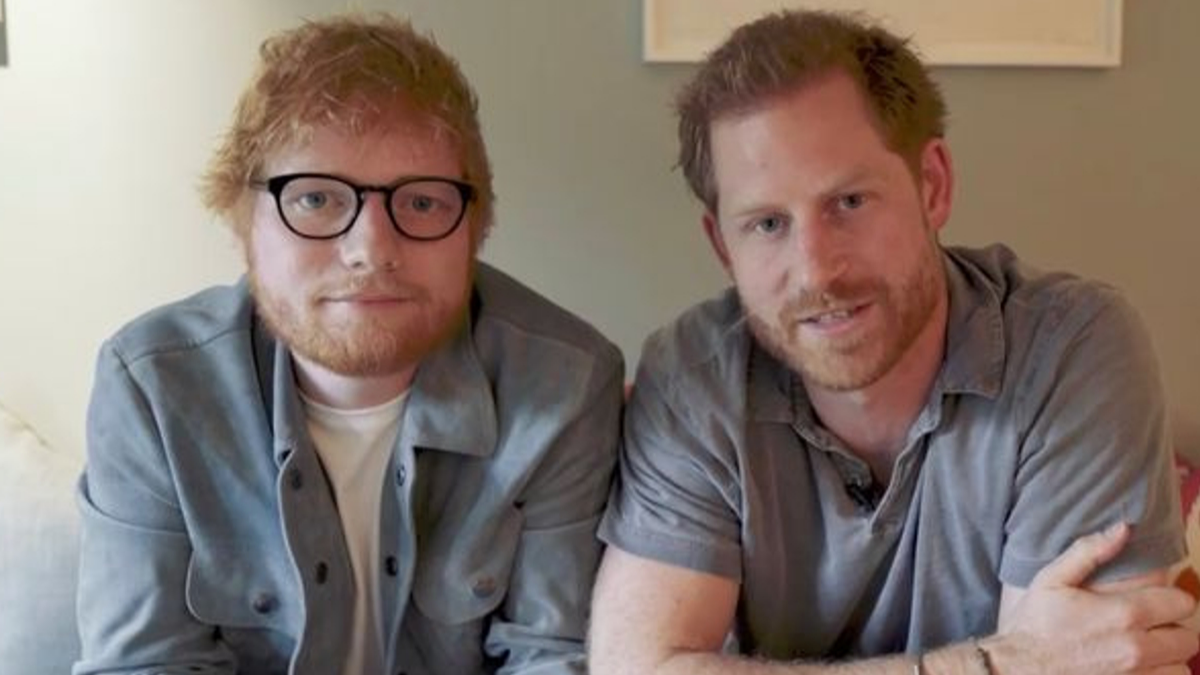 Our Two Favourite Redheads – Prince Harry And Ed Sheeran – Poke Fun At Their Hair In A New Video For World Mental Health Day