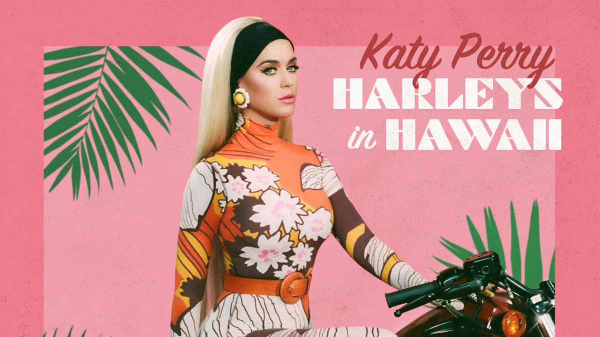 Watch Katy Perry Take The Roll of A Badass Biker In 'Harleys In Hawaii' Music Video