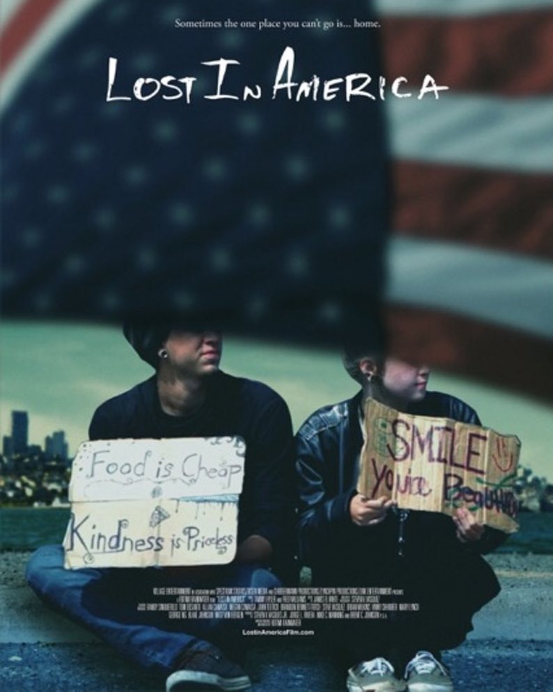 Poster for Lost In America, the reason behind Jewlel's new 'No More Tears' music video