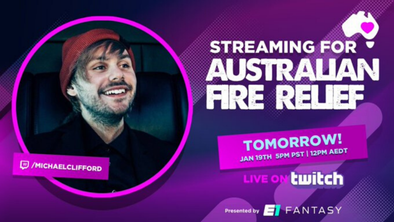 Cancel Your Plans! Michael Clifford is Hosting a Charity Gaming Stream in Aid of the Australian Fire Relief!