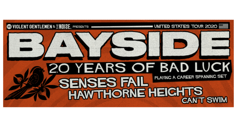 Bayside Celebrates 20 Years of Bad Luck Anniversary Tour