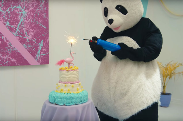 The All Time Low Panda as featured in the music video for 'Birthday'