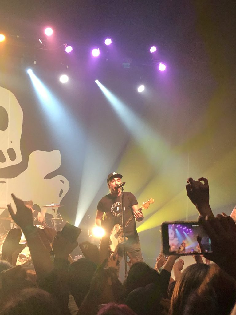 Alex Gaskarth at the 10th Anniversary Show in Los Angeles