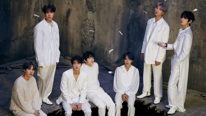 BTS Showcase As White Swans With Elegance For Their Comeback's First Concept Photos.