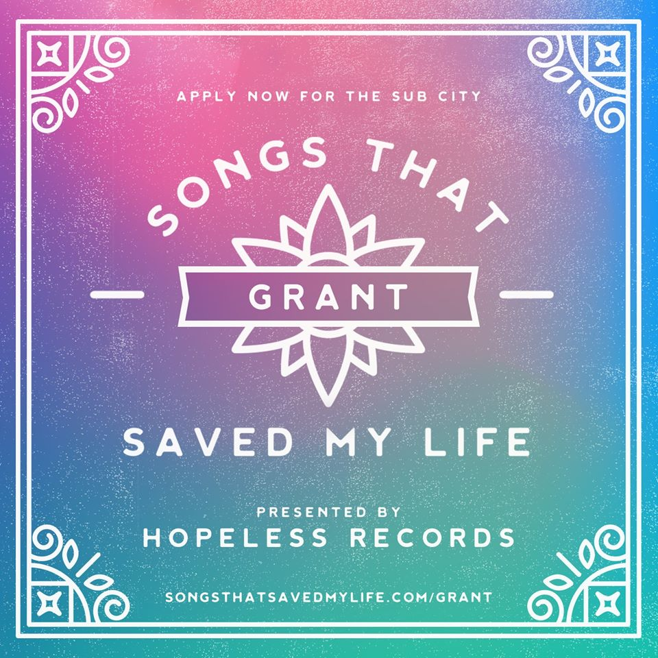 Hopeless Records Songs That Saved My Life Grant Image