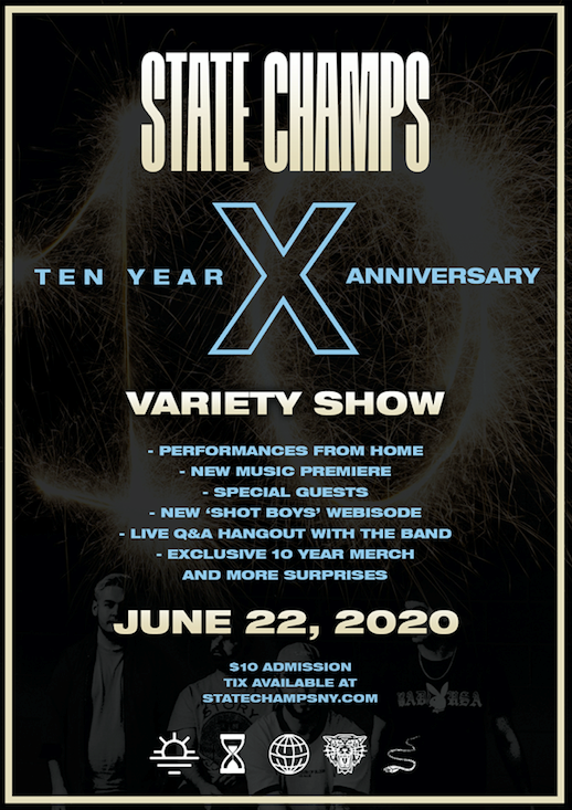 State Champs Ten Year Variety Show Poster