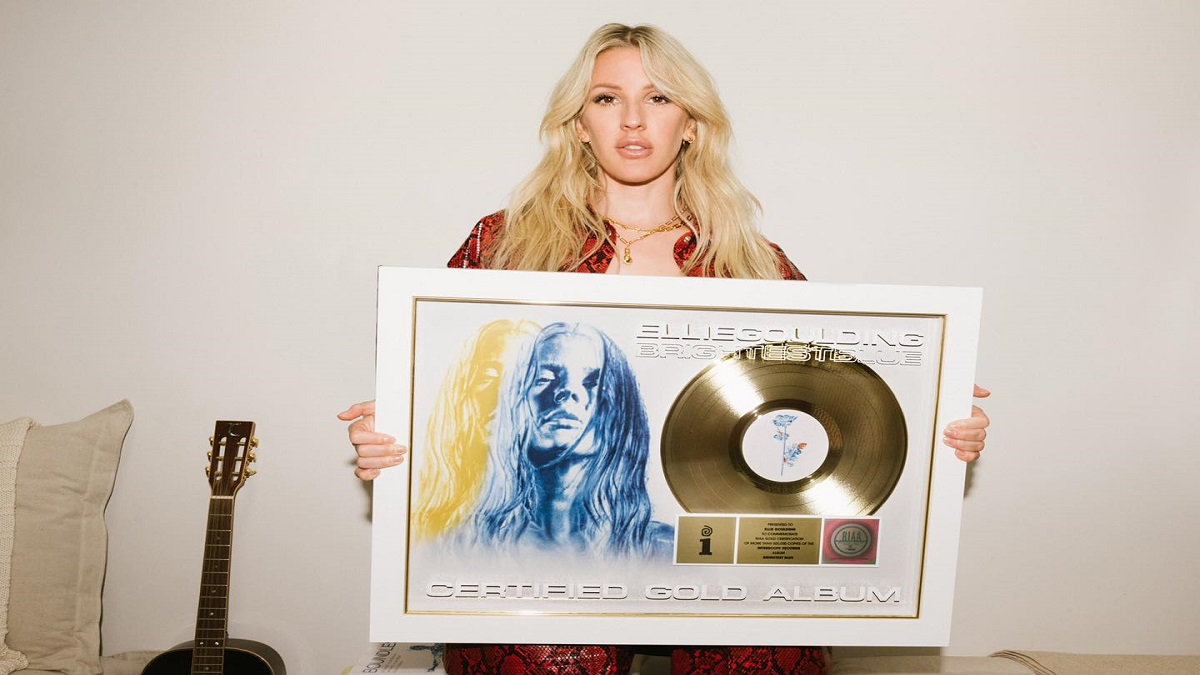 Blue is the New Shade of Gold: Ellie Goulding Strikes Gold for Brightest Blue