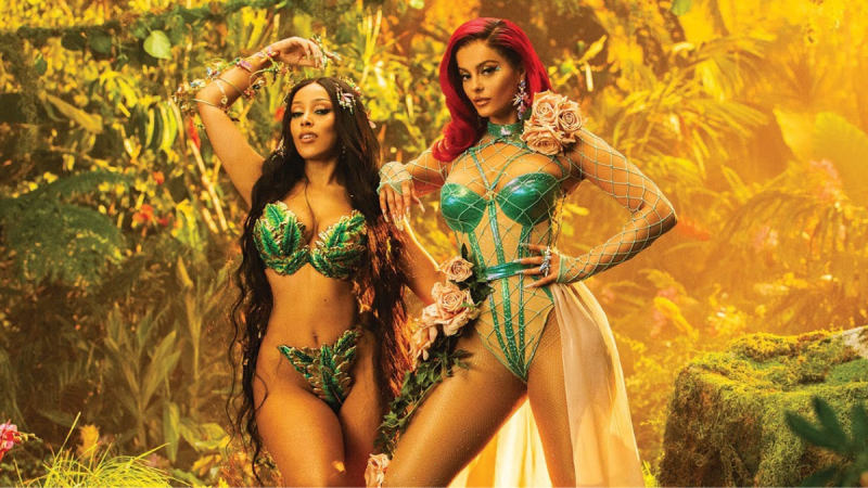 A still from 'Baby I'm Jealous' music video featuring Babe Rexha and Doja Cat