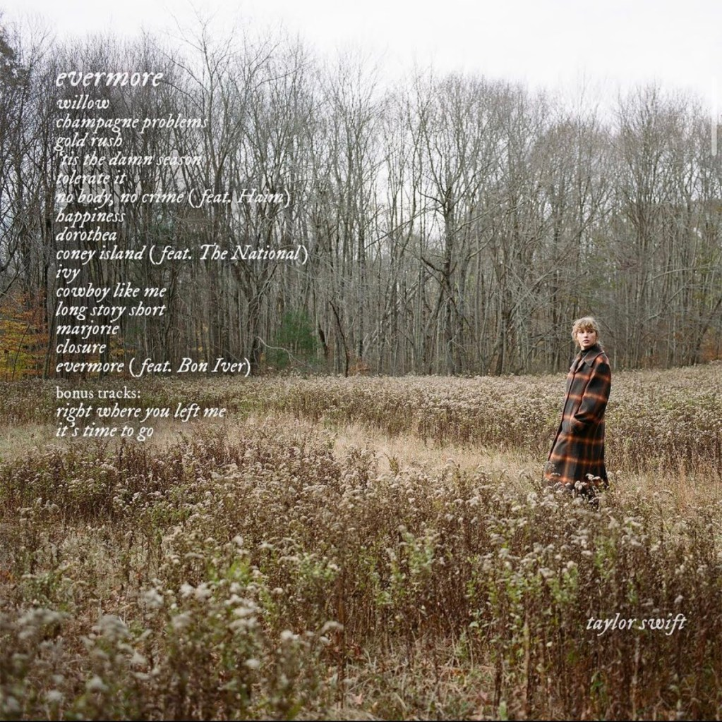 evermore track listing