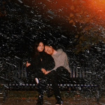 Julia Michaels and JP Saxe for Kissin' In The Cold via Arista Records