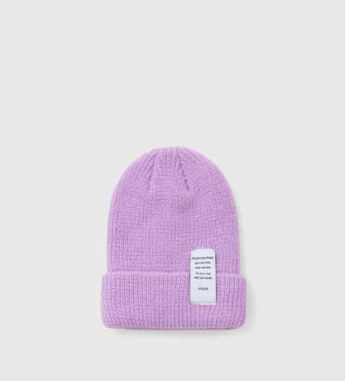 Jennie BLACKPINK lilac long pastel beanie Fashion Fix The Honey POP