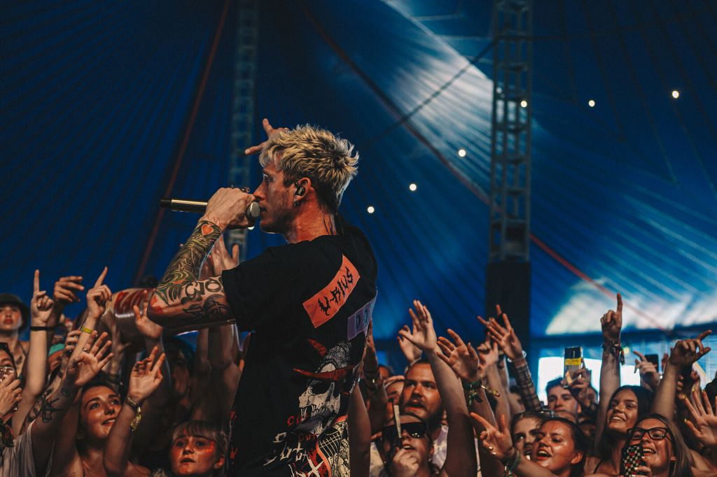 Machine Gun Kelly Performing photographed by Joshua Collinsfestival