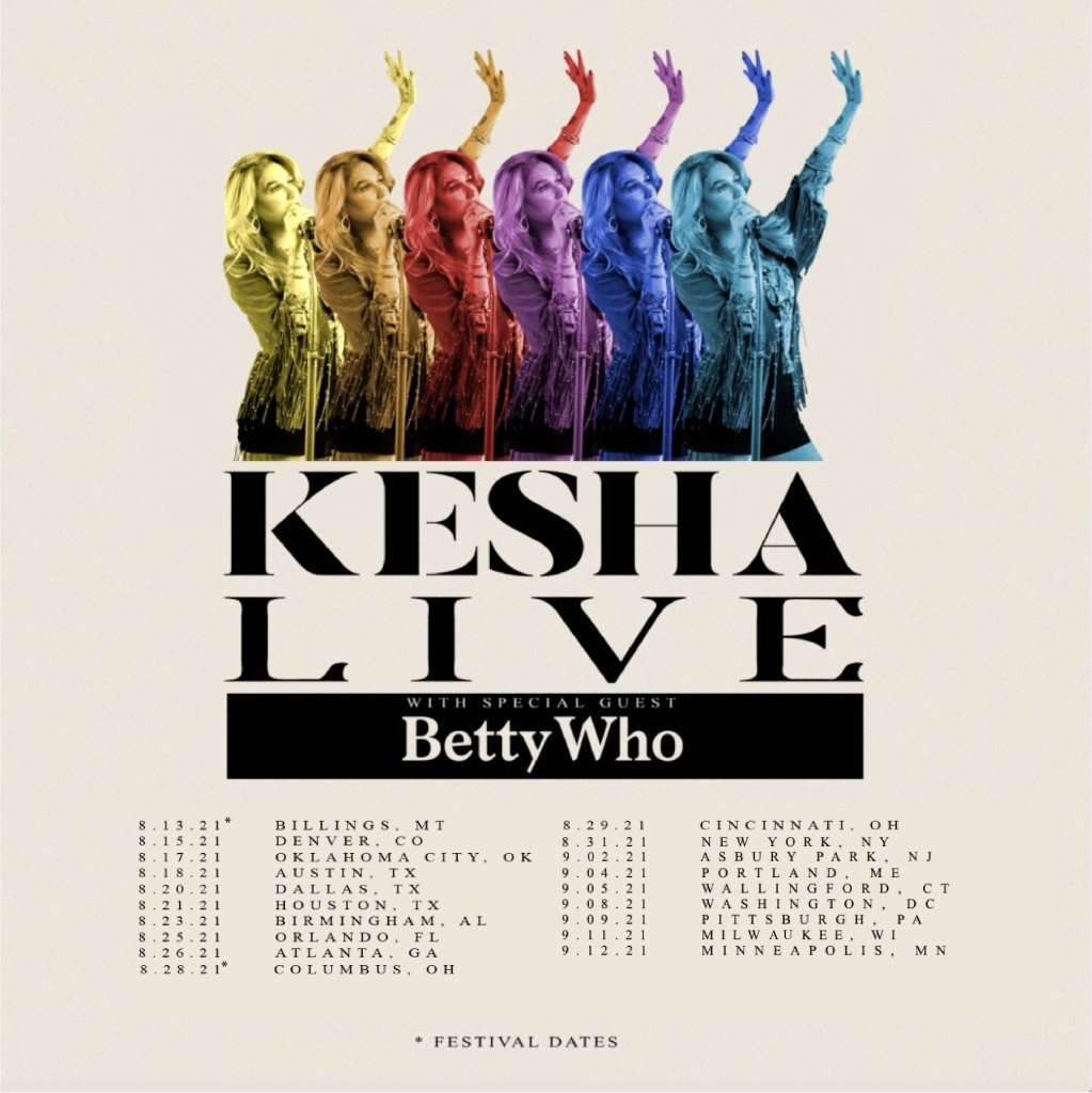Kesha Tour Dates Artists on the road