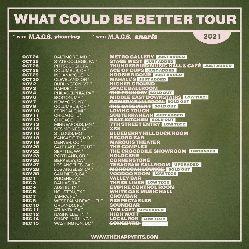 What Could Be Better tour dates